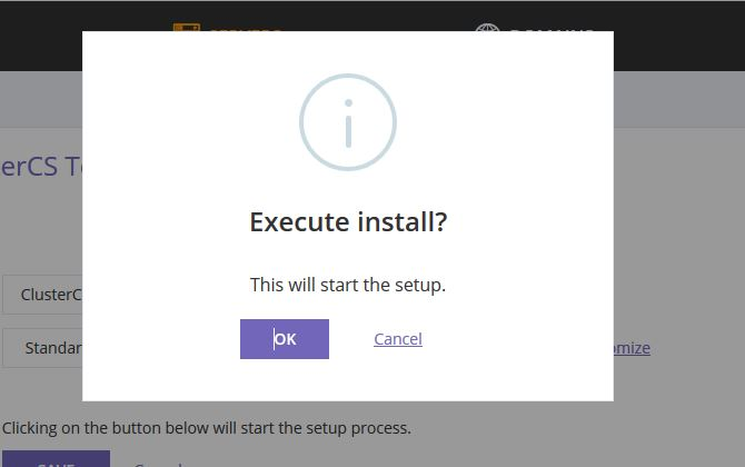 Execute install command